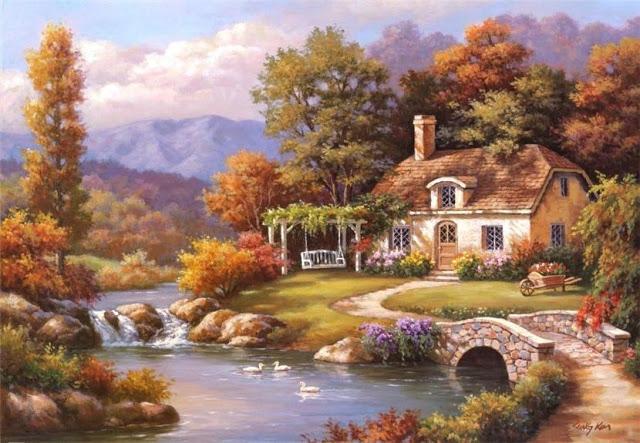Райское наслаждение от Sung Kim 1940 - South Korea. ПЕЙЗАЖИ (44) (640x443, 236Kb)