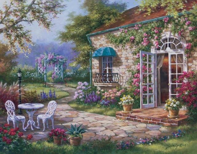 Райское наслаждение от Sung Kim 1940 - South Korea. ПЕЙЗАЖИ (46) (640x501, 296Kb)