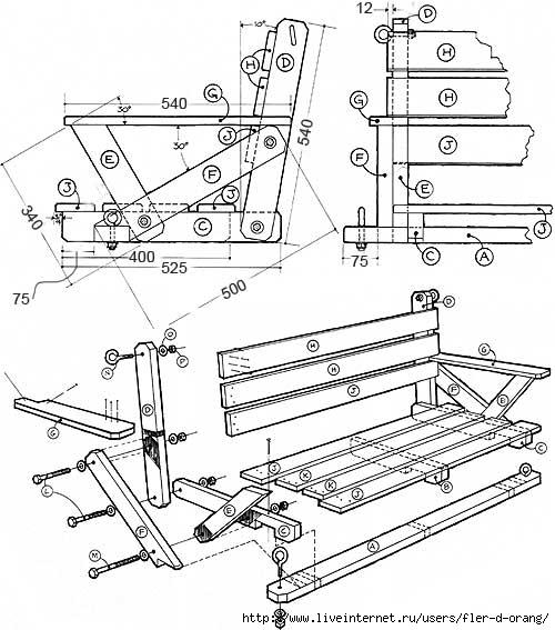 Мебель своими руками для дачи чертежи и схемы
