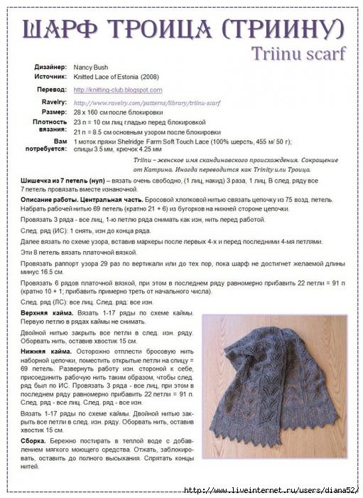 Вязанные шарфы инструкция