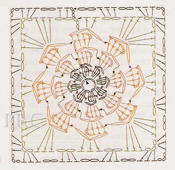 Схемы фрагментов для вязания