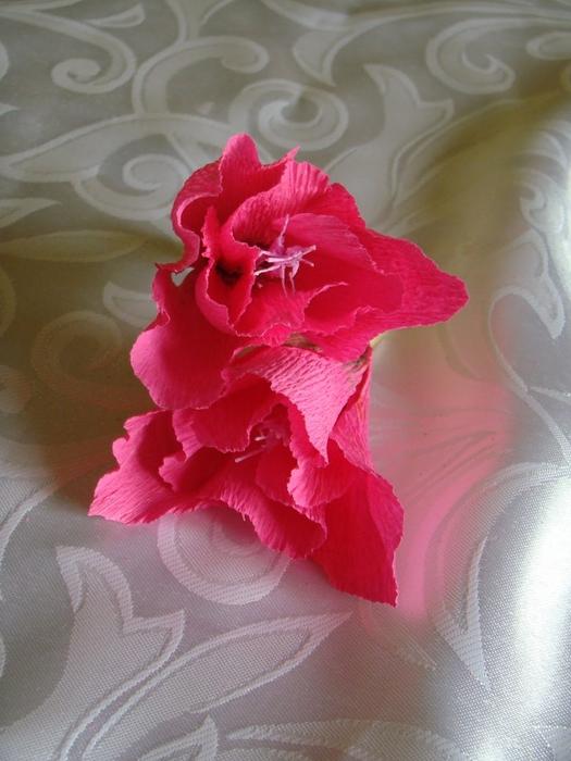 Фрезия из гофрированной бумаги. Фото мастер-класс (15) (525x700, 253Kb)