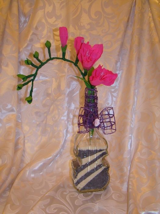 Фрезия из гофрированной бумаги. Фото мастер-класс (23) (525x700, 259Kb)