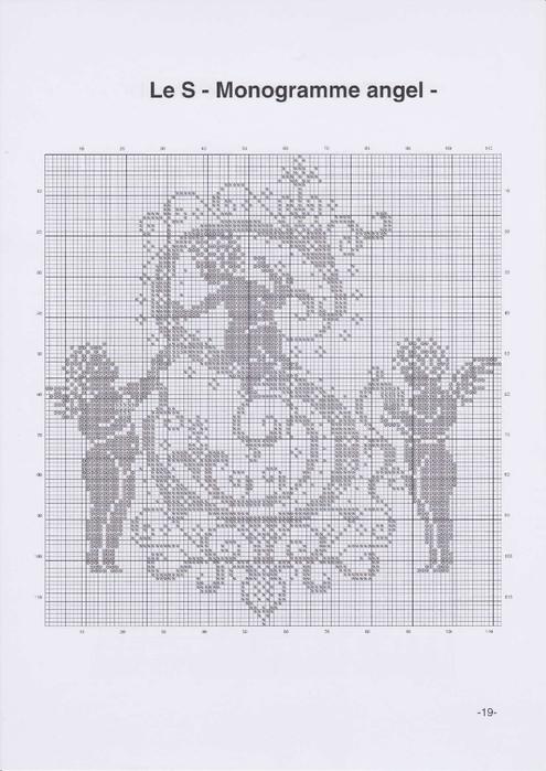 Вышиваем крестиком. МОНОГРАММЫ С АНГЕЛАМИ (22) (495x700, 183Kb)