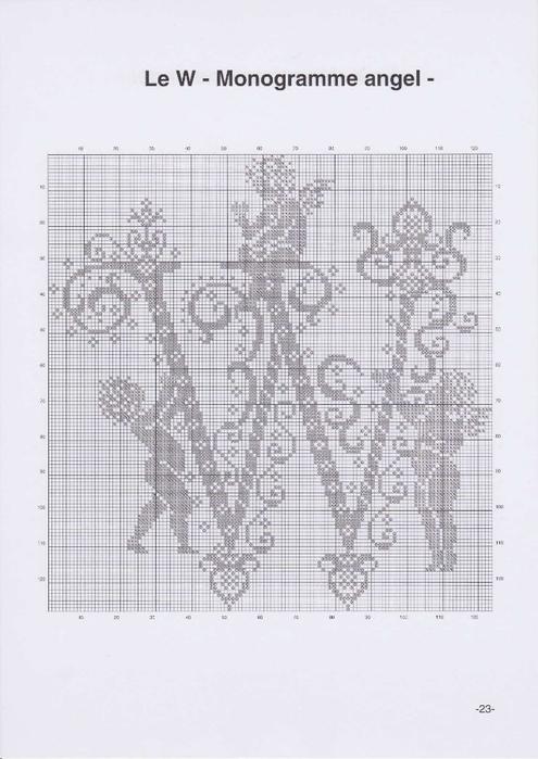 Вышиваем крестиком. МОНОГРАММЫ С АНГЕЛАМИ (26) (495x700, 195Kb)