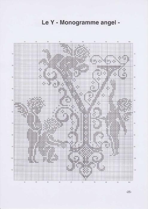Вышиваем крестиком. МОНОГРАММЫ С АНГЕЛАМИ (28) (495x700, 190Kb)