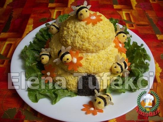 Салат пчелиный домик рецепт
