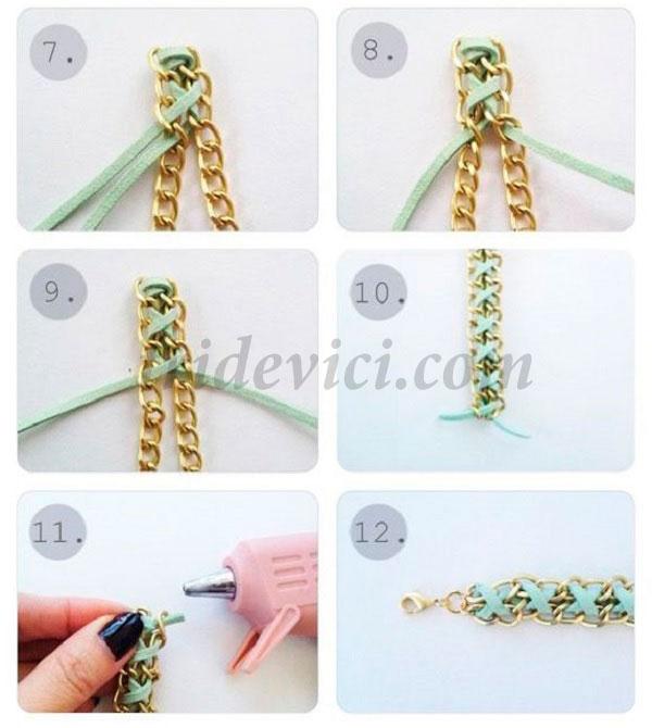 Как сделать из цепи браслет