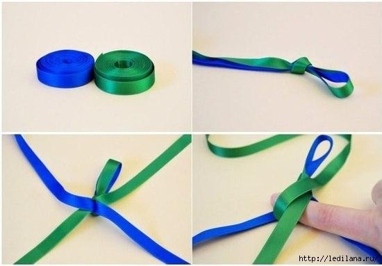 Объемный браслет из лент2