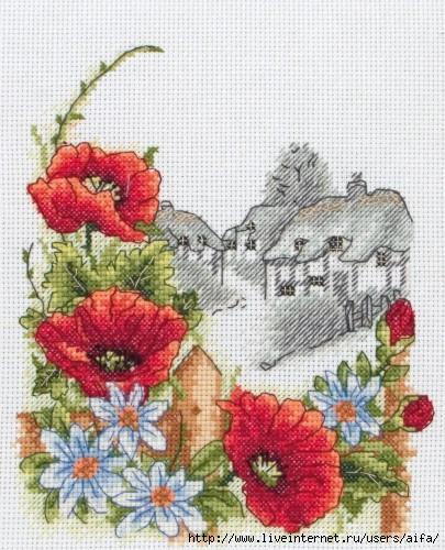 Вышивка крестом, схемы Пейзаж