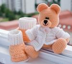 Вязаная игрушка медведь