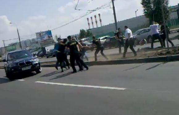 Массовая драка и стрельба в Москве