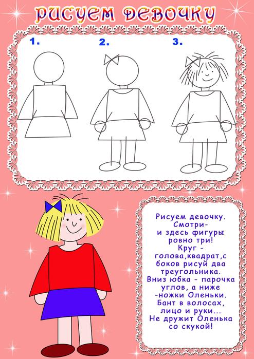 Схема рисования девочек