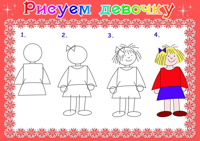 Мальчик девочка рисуем поэтапно