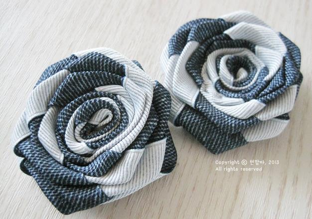 Цветы из киперной ленты, широкой тесьмы, для украшения ободка. Мастер-класс (8) (626x439, 658Kb)