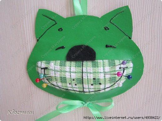 Игольница из ткани для детей