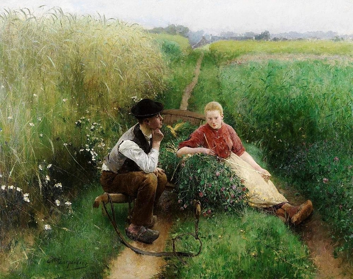 Evariste Carpentier - Love is in the air (700x552, 360Kb)