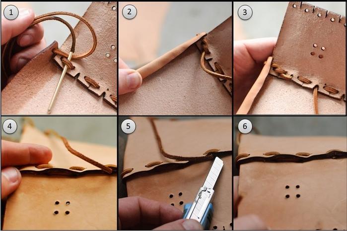 Как сшить сумочку из натуральной кожи. Фото мастер-класс и шаблон (3) (700x466, 220Kb)