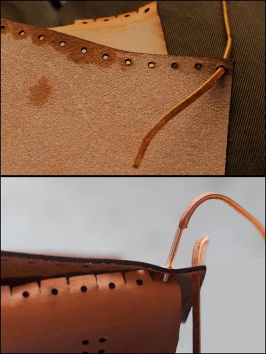 Как сшить сумочку из натуральной кожи. Фото мастер-класс и шаблон (11) (525x700, 236Kb)