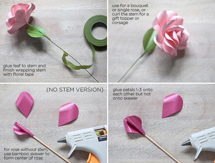 Розы из бумаги. Готовые шаблоны для распечатки (5) (696x528, 815Kb)