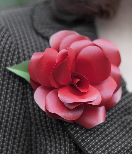 Розы из бумаги. Готовые шаблоны для распечатки (9) (554x648, 614Kb)