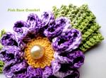 Цветок крючком. схема для вязания. .  Очень красиво!