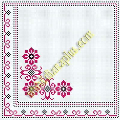 Узор для салфеток схемы вышивки 129