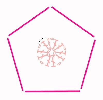 Цветочный фрагмент крючком АФРИКАНСКИЙ ЦВЕТОК для вязания игрушек (77) (400x389, 39Kb)
