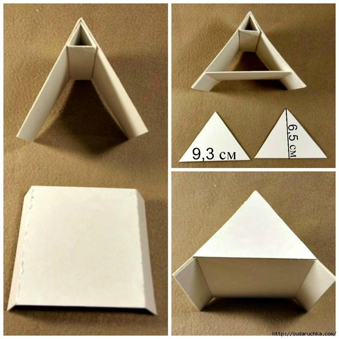 Как сделать крышу домика из картона