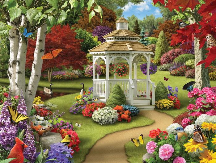 Рисунок сказочный сад