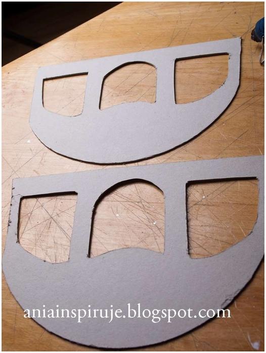 Сказочная карета из картона, проволоки и палочек от мороженого. Мастер-класс (14) (526x700, 230Kb)
