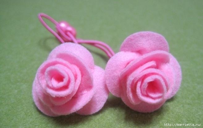 Маленькие розочки из фетра. Украшаем резиночки для маленьких принцесс (1) (657x413, 132Kb)