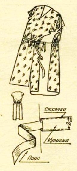 Выкройки халатов без швов