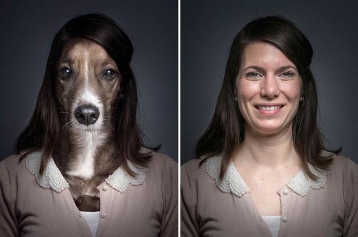 Собаки в одежде своих хозяев