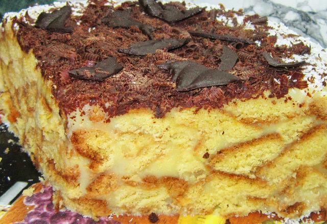 Торт с лимонным заварным кремом!