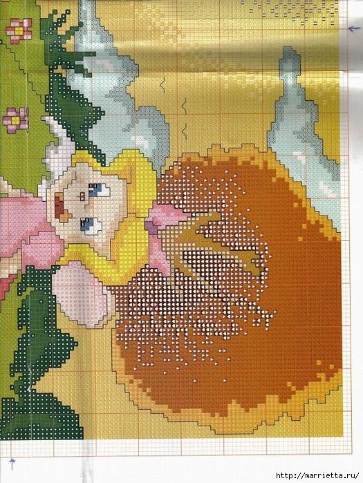 Вдохновлялочки от Марриэтты.  Схемы вышивки героев диснеевских мультфильмов.  Вышивка панно для детей.