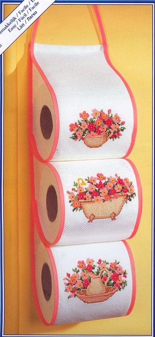 Вышивка на туалетной бумаге