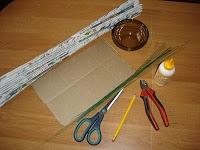 Плетение из газет. Подробный фото мастер-класс по плетению корзинки ЯБЛОЧКА (3) (200x150, 27Kb)