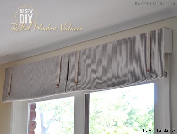 Easy No Sew DIY Rolled Window Valance (565x427, 144Kb)