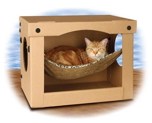 Как сделать игрушку для кота из картона