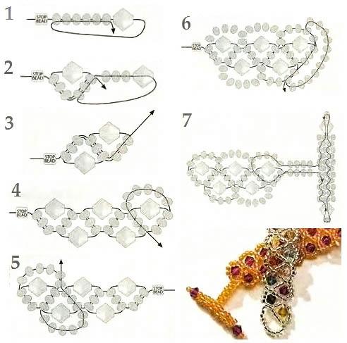 Схемы плетения браслетов из бусин своими руками