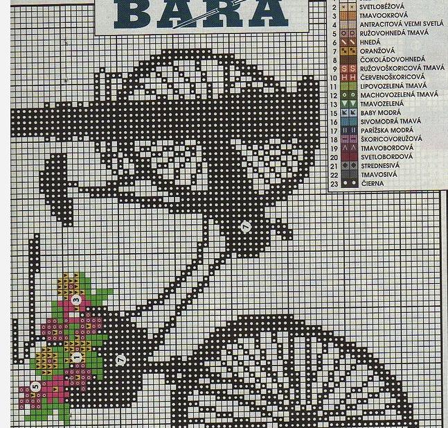 Велосипед, вышивка крестом