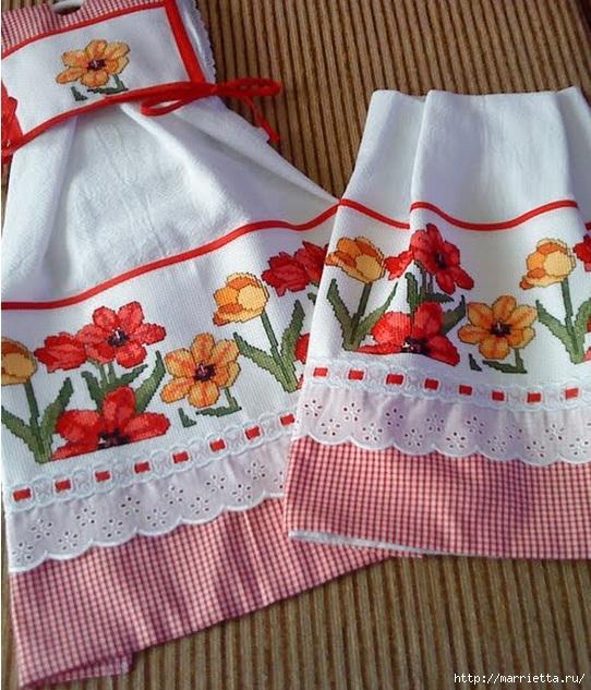 Вышивка для скатерти и полотенца. Схемы (1) (542x633, 283Kb)