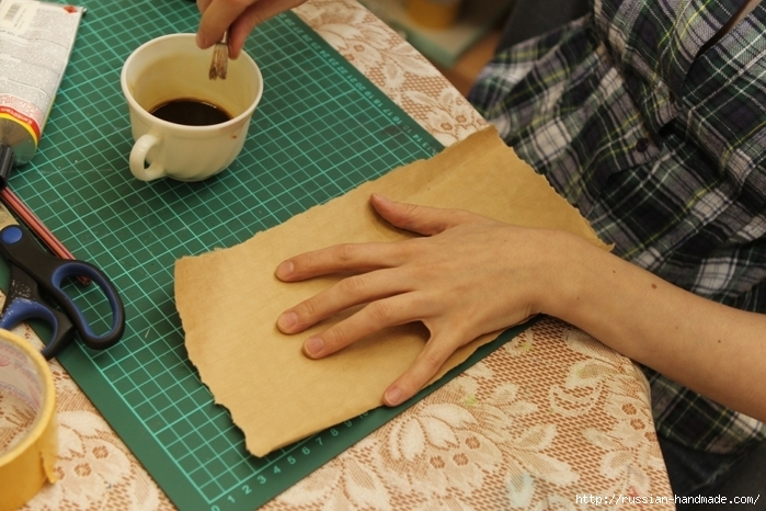 Как сделать бумагу на кофе 153