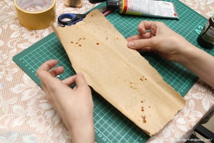 Как сделать винтажный свиток из бумаги (15) (700x466, 258Kb)