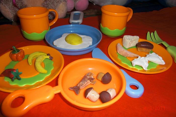 Еда для детской кухни своими руками