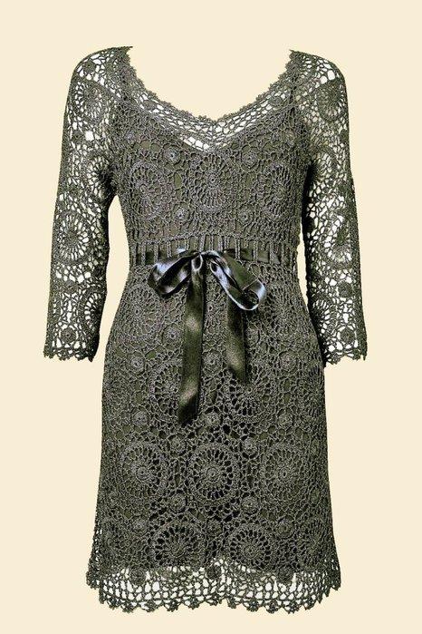 Обворожительное платье мотивами от @лёнк@Вяжем онлайн на Осинке