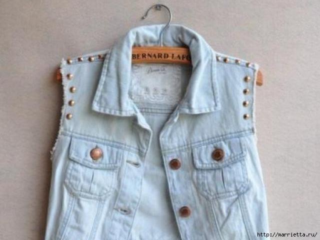шорты из джинсов, переделка и украшение (2) (640x480, 114Kb)