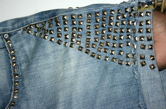 шорты из джинсов, переделка и украшение (6) (582x385, 595Kb)