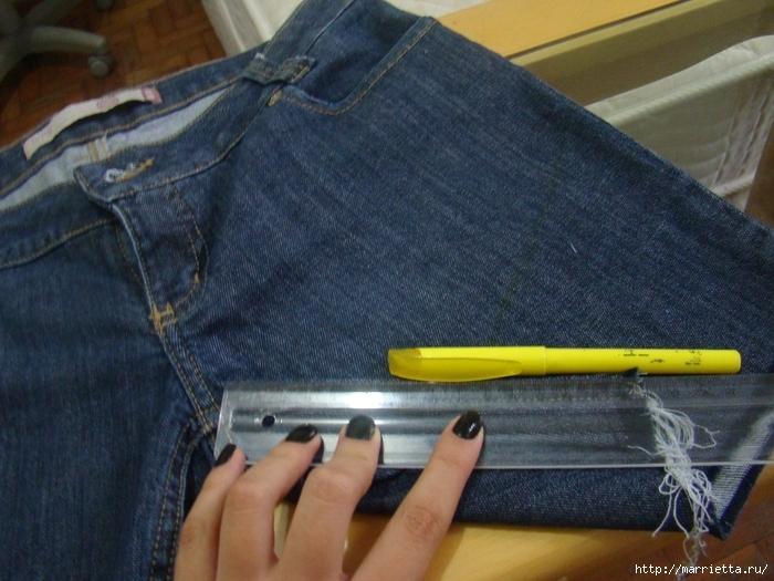 шорты из джинсов, переделка и украшение (11) (700x525, 296Kb)